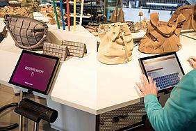 Digitale Infopoints für die Schuhhandelskette Vögele Shoes